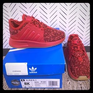 Red Adidas Sneakers-like new